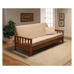 Madison Industries Solid Jersey Full Futon Cover