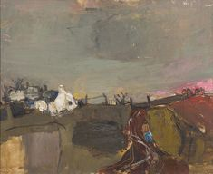 Joan Eardley RSA (British, Catterline 34 x 44 cm Abstract Nature, Abstract Landscape, Landscape Paintings, Seascape Paintings, Kunst Online, Online Art, Contemporary Abstract Art, Artist Art, Art Pictures
