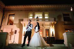 Merritt Mansion, Pasadena   Tracy Dodson Photography #wedding #reception #speech #lighting #uplights #eventlighting #weddinglighting