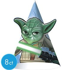 Star Wars Generations 3D Square Dessert Plates 8 Ct Birthday Party Supplies New