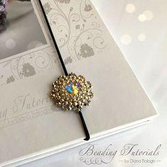 Keya Bookmark Beading tutorial, Beading tutorials and patterns, pendant beading pattern, bookmark beading pattern, flower beading tutorial