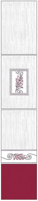 Millennium Tiles 200x300mm (8x12) Luster Concept Design Ceramic Wall Tiles - 206 - 205 - 204 - Burgundy
