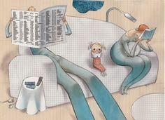 Verde Canas: imparare a parlare e Svein Nyhus Reading Art, Girl Reading, I Love Books, Books To Read, Love Art, Norway, Childrens Books, Illustrators, Literature