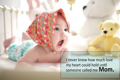I never knew how much love my heart could hold until someone called me Mom. #ivf #mom #baby