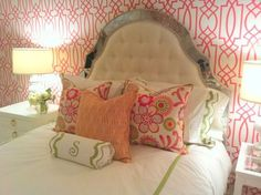 Bedding and wallpaper
