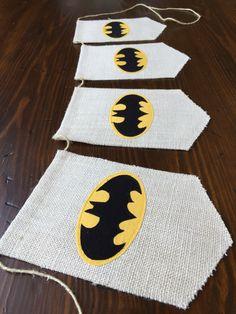 Batman Bunting//Superhero Banner//Batman or Superhero Birthday or Room Décor//First Birthday Cake Smash Photography Prop//asher + blaine by asherblaine on Etsy https://www.etsy.com/listing/237250355/batman-buntingsuperhero-bannerbatman-or