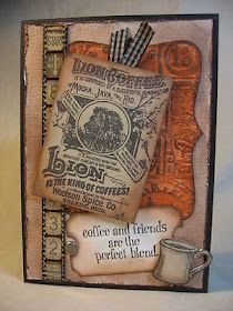 Annette's Creative Journey: Coffee Card - Tim Holtz inspired