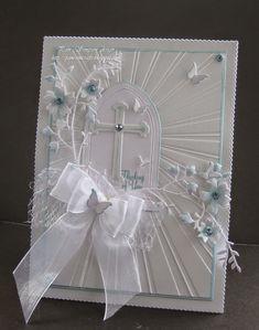 Gorgeous for sympathy, Baptism, Confirmation love the sunburst folder