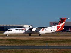 Qantas link (Sunstate Airlines) Q400  Type: DHC-8402  Registration: VH-QOJ  Location: Brisbane International Airport  Date: 11/07/2011