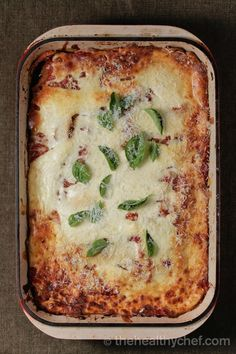 vegetable lasagne healthy chef