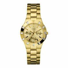 Guess W13576L1 Ladies GLISTEN Gold Tone Watch GUESS. $102.00