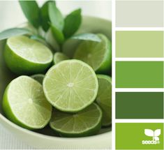 Lime Tones Color Palette from Design-Seeds.com