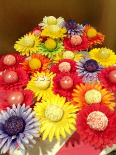 Mother's Day flower pop bouquets