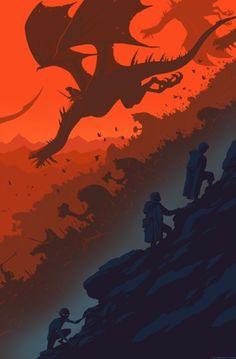 Frodo Baggins, Samwise Gamgee, and Gollum/Smeagol.