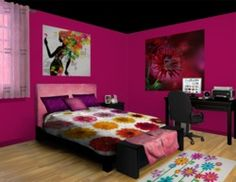 Colorful Floral Passion Teen Girl Room!