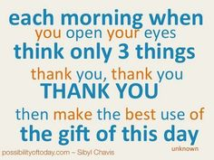 The importance of being thankful.