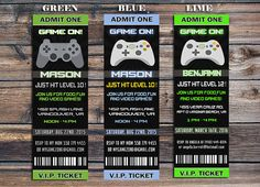 Video Game Invitation Video Game Birthday Party by EniPixels 13th Birthday Parties, Birthday Party Games, 11th Birthday, Birthday Ideas, Xbox Party, Game Truck Party, Video Game Party, Party Themes For Boys, Pokemon Birthday