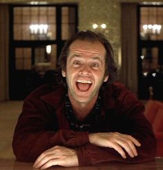 """Jack Nicholson en """"El Resplandor"""", 1980"""