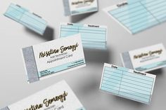 Appointment cards/Business cards/Contact cards 2in1