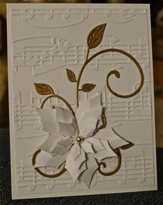 This is for the SCS Featured Stamper (FS). It is a case of two of Carolina Little's cards. The background is embossed iwth the Cuttlebug...