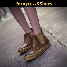 Aliexpress.com: Купить Pernycess 2014 плоские кожаные сапоги и ботинки женская мартин ботинки с пологом склоне с из Надежный загрузить розовые поставщиков на Yangzhou Pernycess Garment Industry Co., Ltd