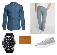 """Casual, Price: 50 - 100"" by antoine-nikolo ❤ liked on Polyvore featuring Express, Polo Ralph Lauren, Casio, Converse, Dries Van Noten, men's fashion and menswear"