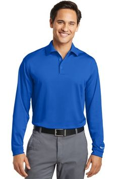 2236faee3c Nike Golf Long Sleeve Dri-FIT Stretch Tech Polo Style 466364