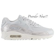2109a5ca1a8c Swarovski Women s Nike Air Max 90 Pure Platinum Sneakers Blinged Out With  Authentic Clear Swarovski Crystals Custom Bling Nike Shoes