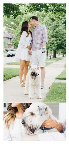 Don't forget to include your pooch in your engagements! #wedding #engagement #photography #photographer Captured by: Kayla Coleman http://kaylacolemanphotography.com/