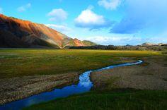 Landmannalaugur, Iceland. Beautiful rhyolite hills.