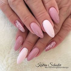 Discover new and inspirational nail art for your short nail designs. Almond Acrylic Nails, Summer Acrylic Nails, Best Acrylic Nails, Almond Nails, Summer Nails, Classy Nails, Stylish Nails, Trendy Nails, Short Nail Designs