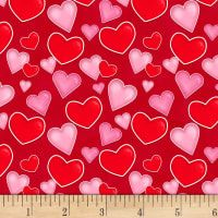 Henry Glass Love Struck Tossed Hearts Red from Designed by Shelly Comiskey of Simply Shelly Designs for Henry Glass & Co., this cotton print fabric is perfect for quilting, apparel and home decor accents. Sewing Tutorials, Sewing Crafts, Sewing Projects, Sewing Patterns, Name Design, Red Design, Valentine Heart, Valentines, Red Fabric