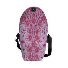 Pink Lace Messenger Bag