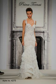 Bridal Gowns: Pnina Tornai Mermaid Wedding Dress with Sweetheart Neckline and No Waist/Princess Seams Waistline Pnina Tornai, Wedding Dresses Photos, Bridal Wedding Dresses, Lace Wedding, Wedding Bells, Bridesmaid Gowns, Wedding Wishes, Bridal Gown Styles, Bridal Style