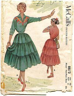 1950s Vintage McCalls 8873 by DesignRewindFashions on Etsy