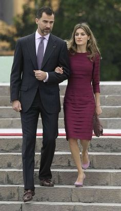 The Prince of Asturias and his wife Leticia. They are the equivalent of the Prince and Princess of Wales.