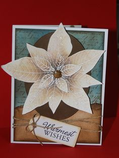Beautiful card by shellshaub posted on Flickr/Hero Arts