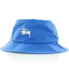 9b3f4b7f7dd6d stussy Classic Logo Bucket Hat blue