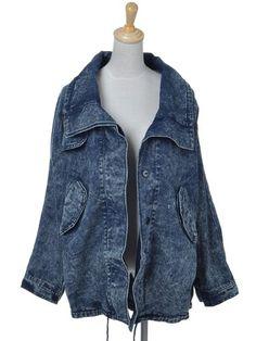 Anna-Kaci S/M Fit Blue Acid Washed Denim Large « Impulse Clothes