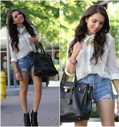 Forever 21 Top, Urban Outfitters Shorts, Forever 21 Necklace, Mimi Boutique Bag, Jeffrey Campbell Shoes
