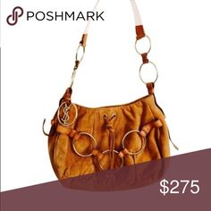Rive Gauche Chain Hobo Shoulder Bag Camel Suede YSL shoulder bag with leather strap and gold hardware. Never used with ticket attached. Perfect for going out or a great staple fall bag. YSL Bags Shoulder Bags