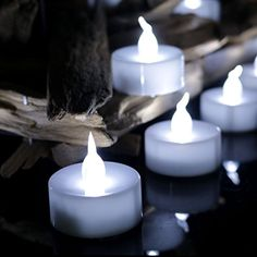 Youngerbaby 24pcs Cool White Flickering Timing Tea Lights Battery Operated LED Candles with timer Unscent Flameless Tealights 6 Hrs on 18 Hrs Off Free Fake Rose Petals For Wedding Party Christmas ** This is an Amazon Affiliate link. Learn more by visiting the image link.
