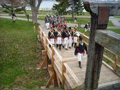 American re-enactors on the march. #Warof1812