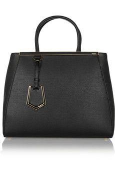 Fendi 2Jours medium textured-leather shopper | NET-A-PORTER