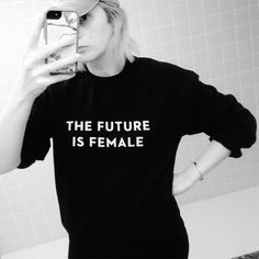 """Otherwild's """"The Future Is Female"""" Collection - Available as a t-shirt and sweatshirt at Otherwild.com."""