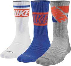 new arrival d352e 79953 Nike Mens 3 PK DriFit Cotton Cushioned Crew Socks SZ 8-12 SX4862-970