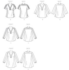 McCalls's Pattern 7357 (plus size) tunic review. It has multiple pieces for various cup sizes.