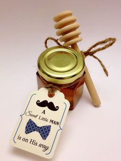 Hi Lauren! Do you like these for the shower favors? Sweet Little Man Baby Boy Honey Baby Shower Favor or by holyhoney