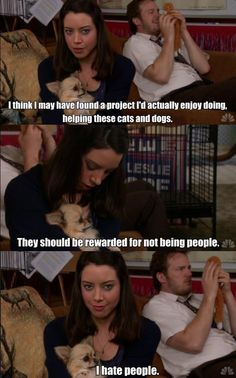 April Ludgate on animals.