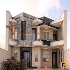 Casas modernas en 2019 house design, bungalow house design y modern Villa Design, Dream House Interior, Dream Home Design, House Front Design, Modern House Design, Style At Home, Bungalow Haus Design, Beautiful Modern Homes, Design Exterior